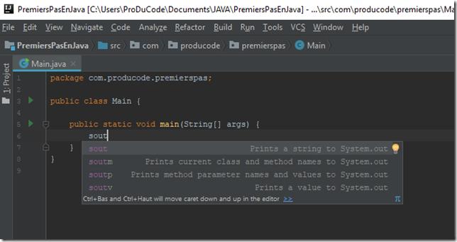 DebuterEnProgrammationJava_etape2