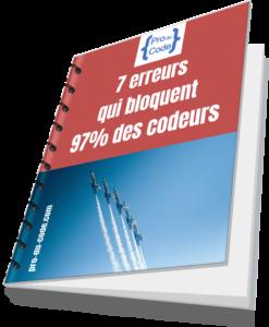Couverture du guide des 7 erreurs qui bloquent 97% des codeurs