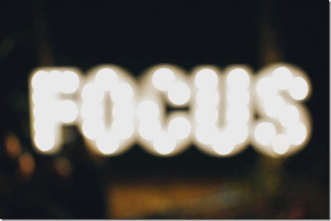 Concentre sur votre resolution